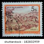 austria   circa 1984   stamp... | Shutterstock . vector #182832959