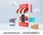 shopping online store for sale  ... | Shutterstock .eps vector #1828368821