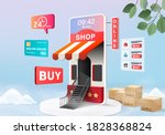 shopping online store for sale  ... | Shutterstock .eps vector #1828368824