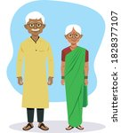 grandparents vector  old couple ...   Shutterstock .eps vector #1828377107