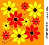 vector illustration of a floral ... | Shutterstock . vector #1828402