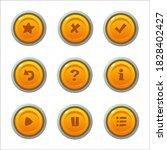 orange game button templates....
