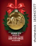 new 2021 year club poster... | Shutterstock .eps vector #1828437377