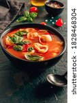 Tomato Soup With Tortellini In...