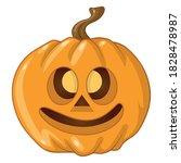 halloween pumpkin on white... | Shutterstock .eps vector #1828478987