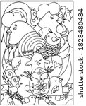 easter coloring page for kids.... | Shutterstock .eps vector #1828480484