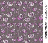 floral rose background ... | Shutterstock .eps vector #182850947