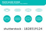 face mask icons set of facemask ...   Shutterstock .eps vector #1828519124