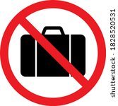 bags not allowed warning sign.... | Shutterstock .eps vector #1828520531