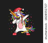 Unicorn Christmas Illustration...
