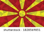 low poly macedonia flag vector... | Shutterstock .eps vector #1828569851