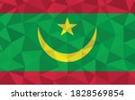 low poly mauritania flag vector ... | Shutterstock .eps vector #1828569854