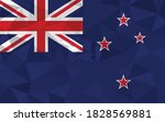 low poly new zealand flag... | Shutterstock .eps vector #1828569881