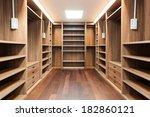 wide wooden dressing room ... | Shutterstock . vector #182860121