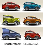 cartoon cars | Shutterstock .eps vector #182860361