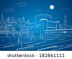 industrial illustration  white... | Shutterstock .eps vector #182861111