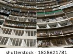 View Of Narrow Apartments...