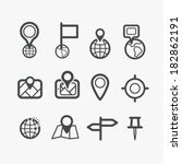 different navigation icons set... | Shutterstock .eps vector #182862191