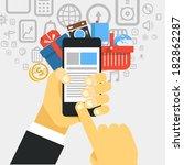 mobile commerce concept... | Shutterstock .eps vector #182862287