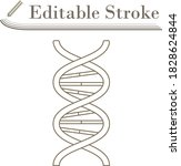 dna icon. editable stroke...
