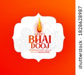 celebrating happy bhai dooj on... | Shutterstock .eps vector #1828628987