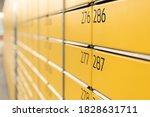 Post Office Box. Yellow Post...