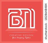 Initial Letter Bn Letter Logo...