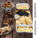 An Assortment Of Food Items On...