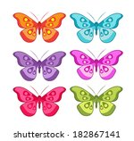 vector color set of colored... | Shutterstock .eps vector #182867141