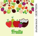 fruits design over beige...   Shutterstock .eps vector #182870054