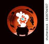 happy halloween. witchs... | Shutterstock .eps vector #1828706507