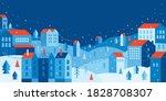 urban landscape in a geometric... | Shutterstock .eps vector #1828708307