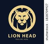 animal lion logo circle vector...   Shutterstock .eps vector #1828709927