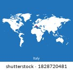 vector map of the italy | Shutterstock .eps vector #1828720481