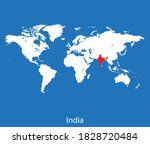 vector map of the india | Shutterstock .eps vector #1828720484
