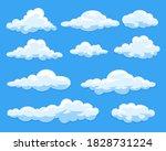 simple cartoon clouds vector... | Shutterstock .eps vector #1828731224