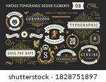 vintage typographic decorative... | Shutterstock .eps vector #1828751897
