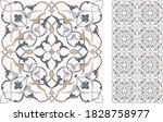 floral tile in turkish style.... | Shutterstock .eps vector #1828758977