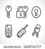 vector keys icons sign set | Shutterstock .eps vector #1828762727