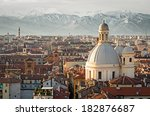 turin  torino   panorama with... | Shutterstock . vector #182876687