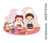 vector illustration cartoon of... | Shutterstock .eps vector #1828779764