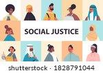 srt mix race people avatars...   Shutterstock .eps vector #1828791044