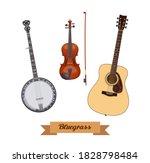 Guitar Set. Realistic Bluegrass ...
