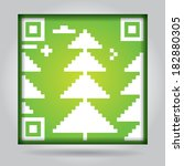 qr code with abstract pine  ... | Shutterstock . vector #182880305
