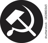 communist star with hammer and... | Shutterstock . vector #182880365