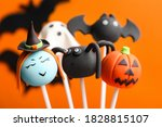 delicious halloween themed cake ... | Shutterstock . vector #1828815107