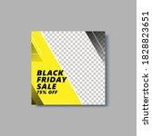 black friday social media post... | Shutterstock .eps vector #1828823651