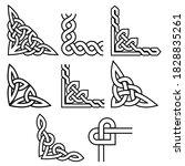 celtic corners vector design... | Shutterstock .eps vector #1828835261