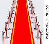 red carpet   3d illustration   Shutterstock . vector #182883929
