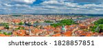 Panorama Of Prague City. Aerial ...